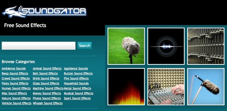 Free Sound Effects - SoundGator | TeachingSkills | Scoop.it