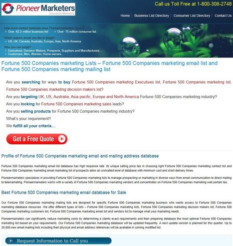 Purchase Mailing List of Fortune 500 Companies | Human Resources Executives List | Scoop.it