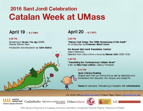 2016 Sant Jordi Celebration Catalan Week at UMass  | The UMass Amherst Spanish & Portuguese Program Newsletter | Scoop.it