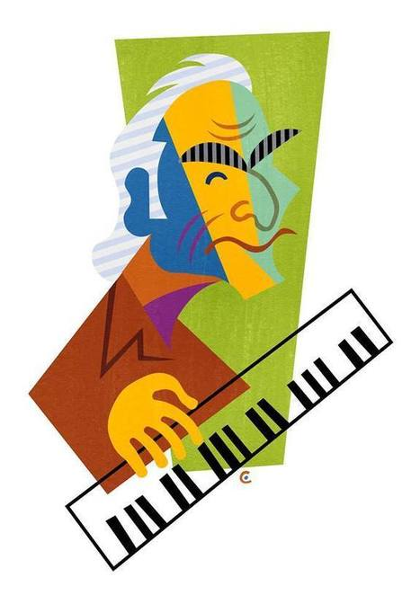 David Cowles Illustrations: Dave Brubeck | Jazz Plus | Scoop.it