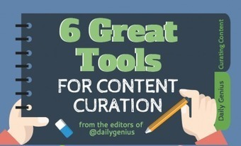 6 Great tools for content curation - Daily Genius | Curation in Higher Education | Scoop.it
