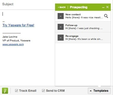 Free Email Tracker, Sales Templates & CRM Syncing | Yesware | Digital & Internet Strategy | Scoop.it