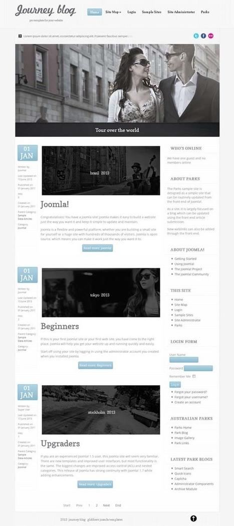 Journey Blog, Free Joomla Clean Minimalist Blog Template | Premium Download | Premium Joomla Templates Download | Scoop.it