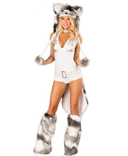 Adult Sexy Deluxe Women's White Husky Costume   Favorite Costumes   Scoop.it