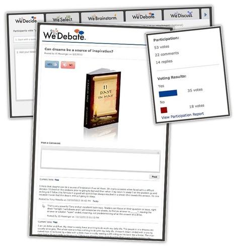 We Debate: coinvolgi i tuoi lettori all'interno del tuo eBook   Momenti Difficile   Scoop.it