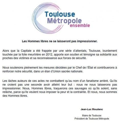 Les Hommes libres ne se laisseront pas impressionner. | Toulouse La Ville Rose | Scoop.it