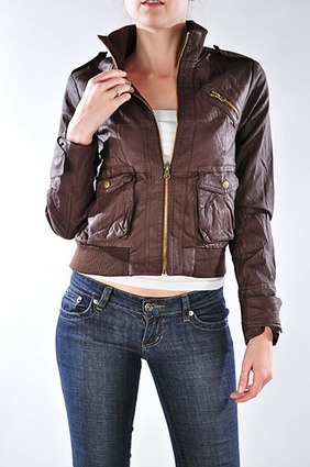 CRINKLED FAUX LEATHER JACKETSMADE IN CHINA | Women's Clothing at Bvira.com | Scoop.it