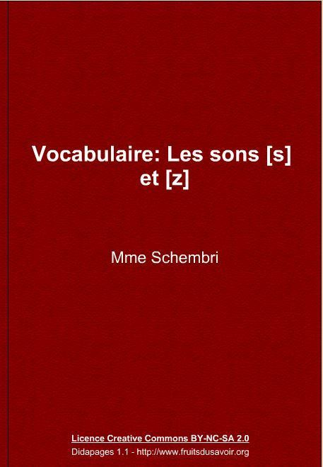Vocabulaire: Les sons [s] et [z] | FLE enfants | Scoop.it
