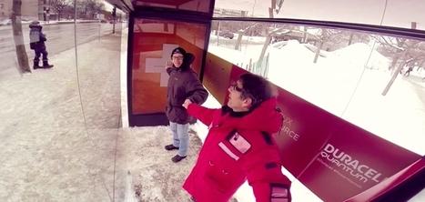 À Montréal, Duracell crée un abribus chauffant qui fonctionne avec la solidarité | Le flux d'Infogreen.lu | Scoop.it