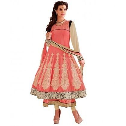 Delightful Peach Georgette Designer Anarkali Kameez | Designer Salwar Kameez | Party Wear Salwar Kameez | Bollywood Churidar Salwar Kameez | Scoop.it
