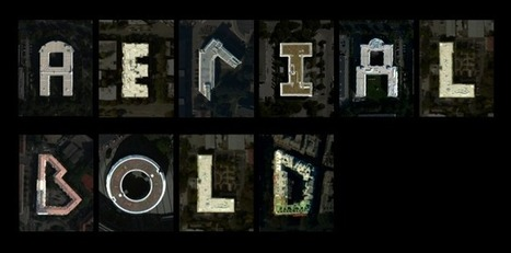 Aerial Bold: Tipografía formada por imágenes de satélite - Isopixel (blog) | Recursos | Scoop.it