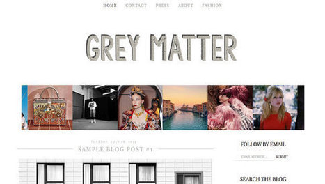Gray Minimal Pre made Blogger Template / Blogger Theme / Blog Template / Fashion and Lifestyle Blogger Design | New Blogger | Blogger themes | Scoop.it