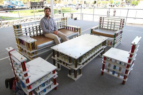 night court: absolut art bar trophee furniture installation by ry rocklen - Designboom   GARDEN ARBOUR   Scoop.it
