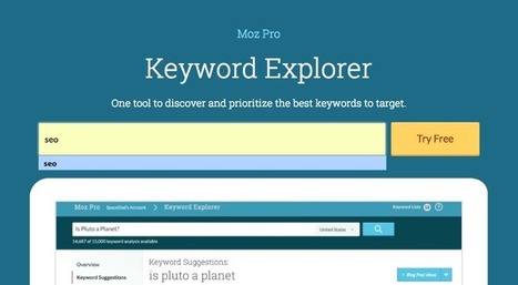 Test Driving the New Keyword Explorer Tool from Moz | SEO 101 for Marketers | Scoop.it