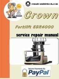Crown Forklift ESR4000 Series Parts Manual pdf Download | pdf download|Factory&Workshop Repair Manual|Service Manuals | DO IT YOURSELF | Scoop.it