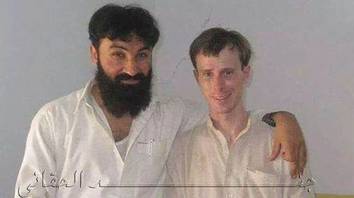Hey Barry Look at This - Photo of smiling Bowe Bergdahl posing with Taliban official surfaces on Twitter [no DESERTION TREASON OR COLLABORATION CHARGES?]