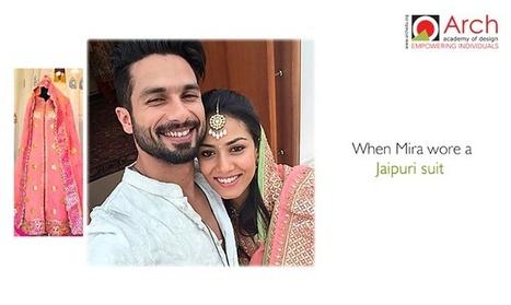 When Mira Rajput wore a Jaipuri Suit | Jewellery Design Courses | Scoop.it