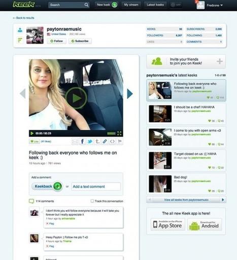 Keek, le Twitter de la vidéo | Social Media Marketing - Sarah Rumeau | Scoop.it