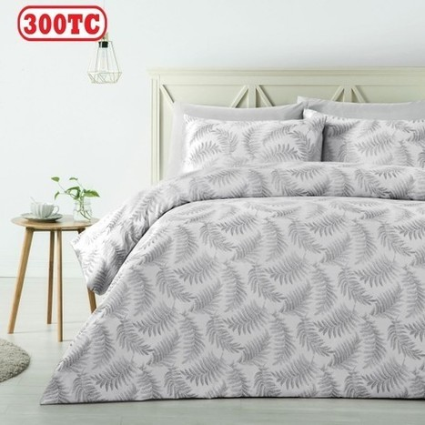 300TC Fern Silver Jacquard Quilt Cover Set by Accessorize - Manchester House | Soft Furnishings | Scoop.it
