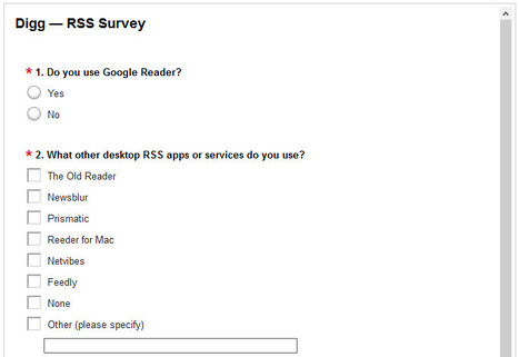 Digg RSS Survey is Online | RSS Circus : veille stratégique, intelligence économique, curation, publication, Web 2.0 | Scoop.it