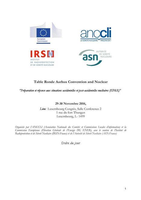 Convention AARHUS Luxembourg (Accident majeur nucléaire-organisations) | Salariés précaires de l'industrie nucléaire | Scoop.it