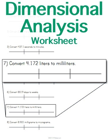 Dimensional Analysis Worksheet | Math Worksheets and Flash Cards | Scoop.it