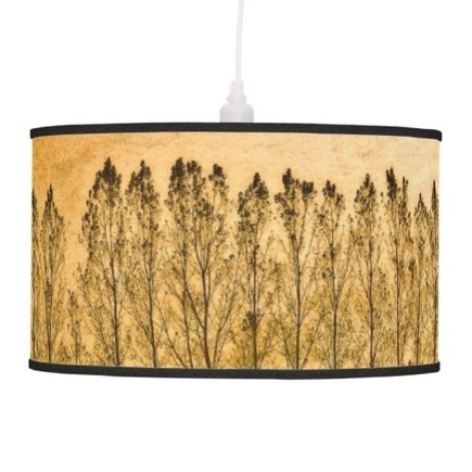 Poplars and Orchard Treeline Art Pendant Lamps | Z Artwork | Scoop.it
