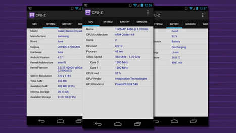CPU-Z Tells You Everything About Your Phone's CPU, Battery, and More | Do The Robot | Scoop.it