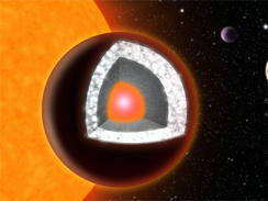 "Astronomers spot ""diamond planet"" 