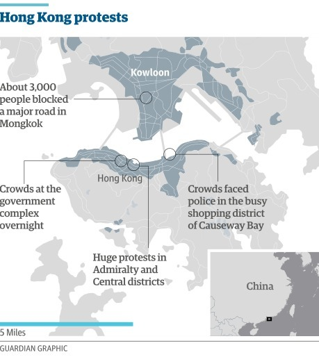Hong Kong's umbrella revolution | Geography Education | Scoop.it
