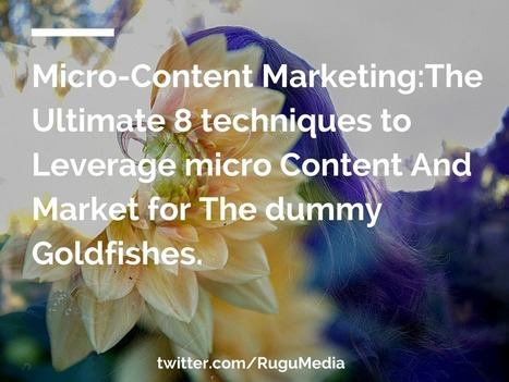 Micro-Content Marketing:The Ultimate 8 techniques to Leverage micro Content | Content Marketing and Curation for Small Business | Scoop.it