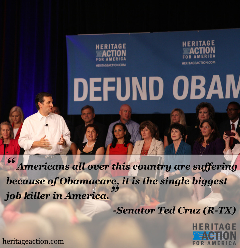 Live Updates: Sen. Cruz's Filibuster to Defund Obamacare | Heritage Action for America