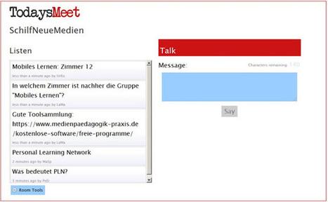 Web2-Unterricht: Backchannels mit TodaysMeet | Web2.0 im Deutschunterricht | Scoop.it