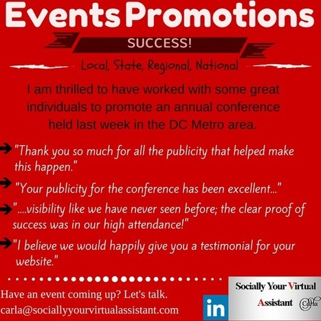 Are you planning early to promote your next event? It's a must! | Virtual Assistant | Scoop.it
