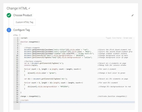 Change Html with Google Tag manager - Marthijn Hoiting   Google Tag Manager   Scoop.it