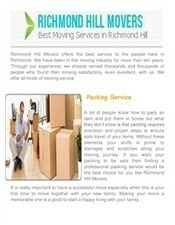 Movers In Richmond Hill Canada | Richmond Hill Movers | Scoop.it