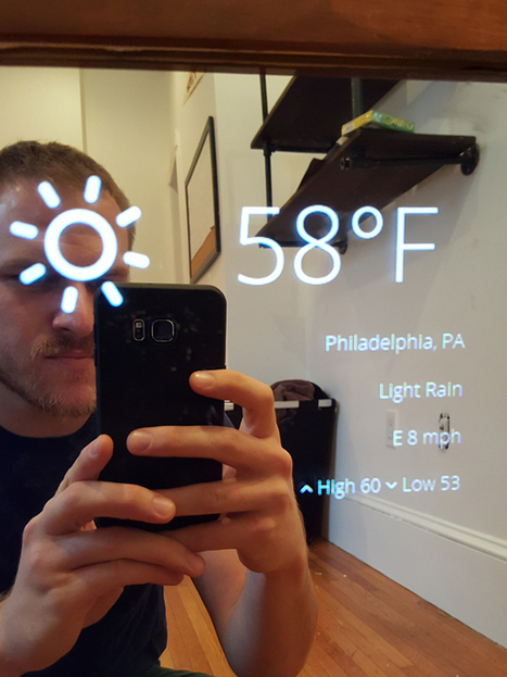 Romantic techie invents 'magic mirror' to tell his girlfriend she's beautiful | Raspberry Pi | Scoop.it