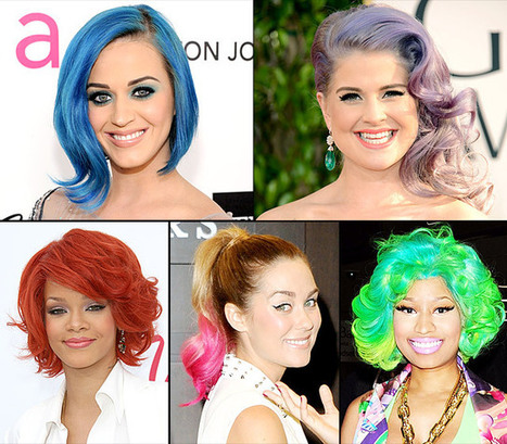 Celebrities with Rainbow Colored Hair | Fashion to Life | Scoop.it