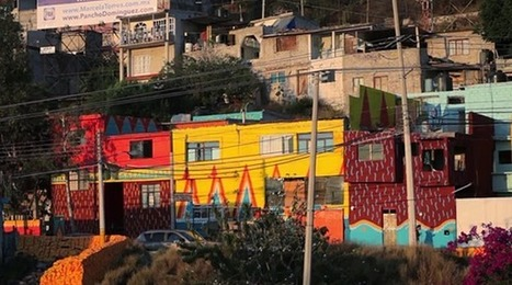 Paint the Town Red... and Blue, and Green. A Mexican Town Gets a Colorful Makeover   Culture and Fun - Art   Scoop.it