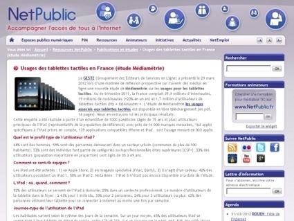 Usages des tablettes tactiles en France (étude Médiamétrie) | Tablettes tactiles et handicap | Scoop.it