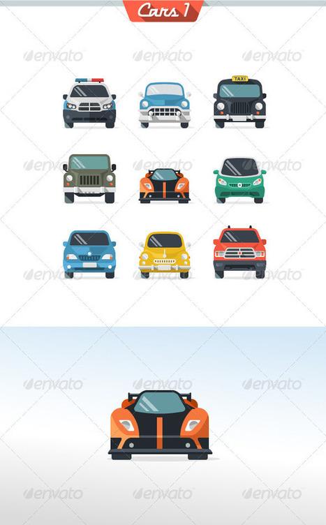Car Icon Set 1 (Icons) | GFX Database | GFX Download | Scoop.it