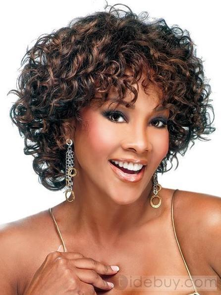 Custom 100% Human Hair African American Hairstyle Short Curly Lace Front Monofilament Top Wig about 10 Inches | cosplay | Scoop.it