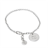 "Engraved ""You've Passed"" On A Silver Adjustable Disc Charm Bracelet - Just Be Fancy 