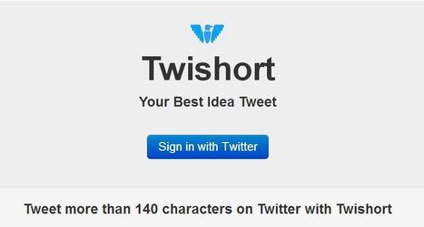 Enviar tweets de más de 140 caracteres en Twitter. | Rebollarte | Scoop.it
