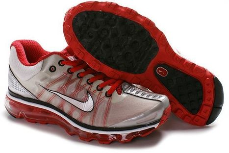 Chaussures Nike Air Max 2009 Hommes Blanc Rouge Noir 002 Pas Cher | fashion outlet | Scoop.it