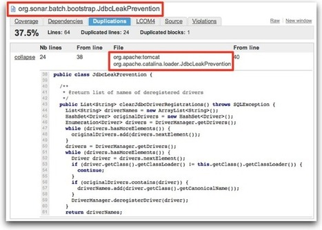 Sonar » Manage Duplicated Code with Sonar | Software Quality - SonarQube by SonarSource | Scoop.it