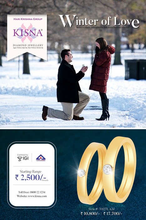 This winter express and enjoy the Winter Of Love with Kisna Diamond Jewellery! | Latest Indian Diamond Jewellery Designs | Scoop.it