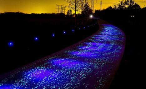 Starry Night: Illuminated Bike Paths Light the Way for Dutch - NBC News | AP Human GeographyNRHS | Scoop.it