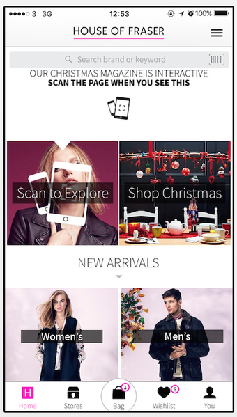 House of Fraser's scannable windows deliver higher value app orders - Mobile Commerce Daily - Multichannel retail support | Reseaux d'enseigne | Scoop.it