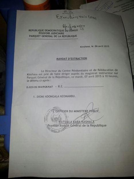 COMMUNIQUE DE LA DEMOCRATIE CHRETIENNE DU 07/04/2015: TENTATIVE D'EXFILTRATION DU PRESIDENT EUGENE DIOMI NDONGALA DE SA CELLULE VERS UNE DESTINATION INCONNUE | EUGENE DIOMI NDONGALA, PRISONNIER POLITIQUE EN RDC | Scoop.it